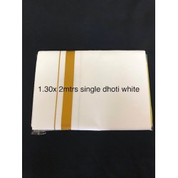 Traditional Indian/Bollywood Men's White Cotton single  Dhoti -2 meters