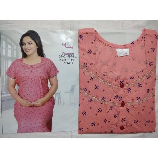 Women's Nightie Sleepwear,Gown Premium Quality Cotton