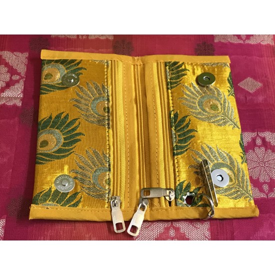 YELLOW  COLOUR PARTY COLLECTIONS CLUTCH PURSE